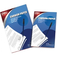 Carbon Paper A4 for Hand writing BLUE Deli Box 100 * this is called pencil carbon for writing on