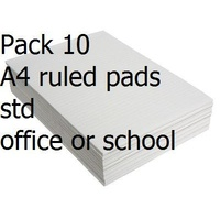 Office Pad A4 Ruled White Bank 80 Leaf Pack of 10