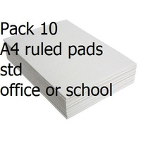 Office Pads A4 Ruled #1 White Bank 80 leaf Standard Office - pack 10