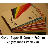 Cover Paper 510mm x 760mm 125gsm Black Pack 250