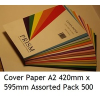 Cover Paper 420mm x 595mm A2 Assorted Pack 500