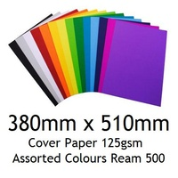 Cover Paper 380mm x 510mm 125gsm Assorted Colours Ream 500