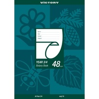 Botany Book A4 48 Page QLD Ruling Year 3/4 Victory - pack 20 Queensland Ruling