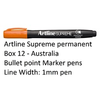 Markers Artline Supreme Permanent Box 12 Orange