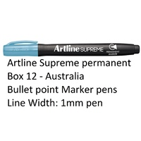 Markers Artline Supreme Permanent Box 12 Light Blue