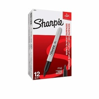 Markers Sharpie Permanent Fine Black Box 12 1.0mm S30001 S30051