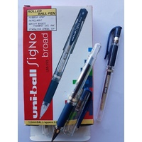 Pen Uniball Gel Impact 1mm UM153 Blue Black Box 12