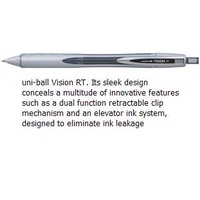 Pen Uniball UBN178 Vision RT Retractable 0.8mm Black - box 12