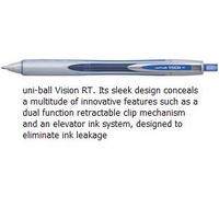 Pen Uniball UBN178 Vision RT Retractable 0.8mm Blue - box 12