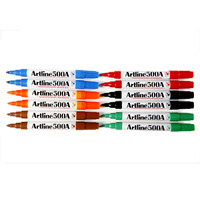 Whiteboard Marker Artline 500A Bullet Point Assorted Box 12 150041
