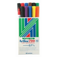 Marker Artline 700 Extra Fine Point Assorted Colours Box 12