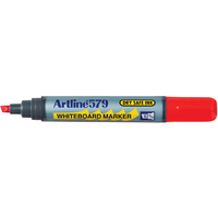 Whiteboard Marker Artline 579 Red Chisel Point Box 12 157902 10502861