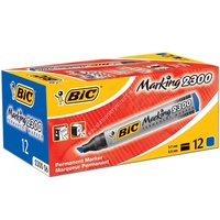 Marker Bic Permanent Chisel Blue Box 12 230006