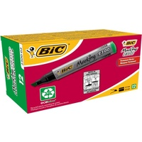 .Marker Bic Permanent Chisel 230002 Green Box 12