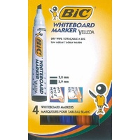 Markers Whiteboard Bic CHISEL tip Assorted - box 4