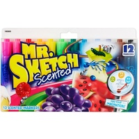 Mr Sketch ASSORTED box 12 flipchart markers Chisel Tip