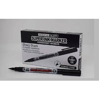 Marker Uniball Super Ink Permanent 0.9mm PNA125 Black - box 12