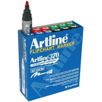 Flipchart markers Artline 370 assorted bullet point - box 12