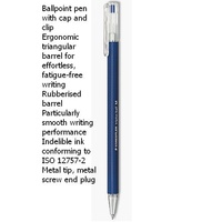 Pen Staedtler Triplus 431 Ballpen Medium Blue Box 10