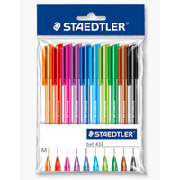 Pen Staedtler Ice Medium Assorted Ball Pen - pack 10