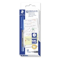 Pen Staedtler Stick 430 Medium Blue Box 10