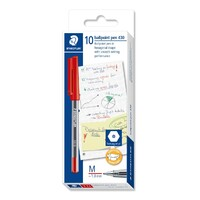 Pen Staedtler Stick 430 Medium Red Box 10
