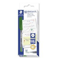 Pen Staedtler Stick 430 Medium Green Box 10