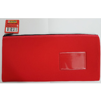 Pencil Case Osmer Neoprene 34 x 17cm 1 Zip Name Insert Red NEO231513