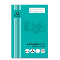 Binder Book A4 8mm Ruled 128 Page Olympic 140833/03443 Pack 10 L22