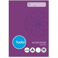 Grid Book 10mm A4 96 page 140972 - pack 10