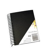 Visual Art Diary A6 White pages 110gsm 60 Leaf Quill SWVA6 - each