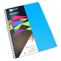 Visual Art Diary  A4 White page 60L bulk discounts 110gsm 120 pages Quill Brights Marine Blue
