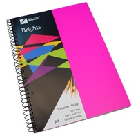Visual Art Diary  A4 White page 60L bulk discounts 110gsm 120 pages Pink Quill 10762