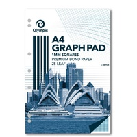 Graph Pad A4 1mm 25L Olympic 23286 - pack 10