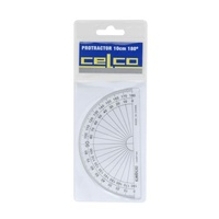Protractor 100mm 180 degree Coloured Celco - each