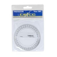 Protractor 100mm 360 degree - each