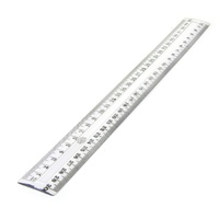 Ruler 300mm Plastic Clear office school - standard office home rulers 30cm