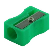 Pencil Sharpener Plastic 1 Hole Pack 24 assorted colours