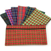 Pencil Case Tartan 320x170 2 zips Dats 1083 - each