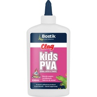 Glue PVA 250ml KIDS Squeeze Bottle Clag 273783 - each