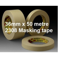 Tape Masking Tape Paper 36x50m Highland 2307 3m 0410019 - pack 6