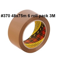 Packaging Tape 370 48x75m Brown Pack 6 rolls 3M Highland Scotch