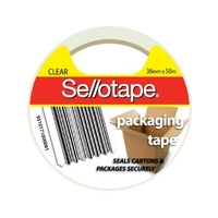 Packaging Tape 36x50m Clear or Brown SelloTape 175cl - roll