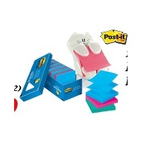 Post It Pop Up Notes 3M 73mm x 73mm 'Assorted R330 pack 18 pads ++ cat -