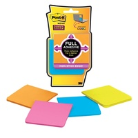 Post-It Notes F330 4SSAU 76mmx76mm Super Sticky pack 4 assorted colours Post-it® Super Sticky Full Adhesive Notes,