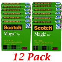 Magic Tape Scotch 810 19mm x 33M - pack 12 $59.40 ($4.99)