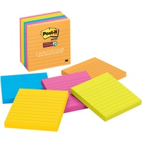 Post-It Notes 98x98mm Assorted Ultra 675 6SSUC Super Sticky 70005115152