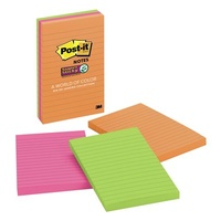 Post- It Notes 98x149mm 660 3SSUC Super Sticky Ultra 98 x 149mm Pack 3
