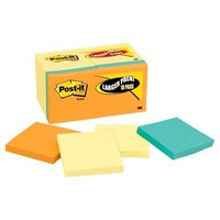 Post-It Note 3M 654 14 4B Mixed 76x76mm Pack 18 = 14 yellow and 4 coloured