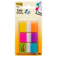 Post-It Flag 3M 680 EG ALT 25mm Flags Electric Glow Use to mark a section of papers to keep organised, Assorted